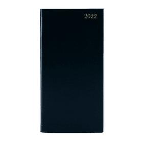Slim- Week- To- View- 2022- Desk- Diary - Black