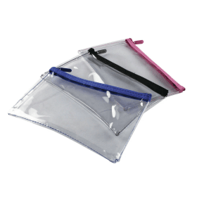 Helix- Clear- Pencil- Case - Assorted- Colours (1 Pack)