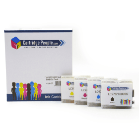 Compatible- Brother- LC1000- Black- &- Colour- Ink- Cartridge- 4- Pack (Own Brand)