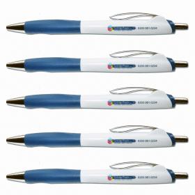 Cartridge- People- Retractable- Ballpoint- Pen - Blue (5 Pack)