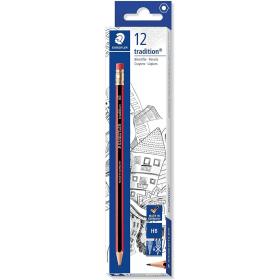 Staedtler- 112- Tradition- HB- Pencils- with- Eraser- Tip (12 Pack)