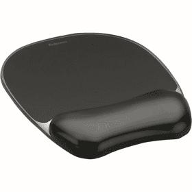 Fellowes- Crystal- Gel- Mouse- Pad- &- Wrist- Rest - Black