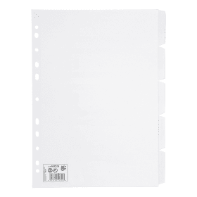 5- Star- A4- 10- Part- White- Subject- Dividers