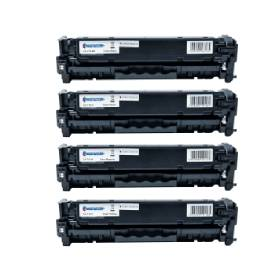 Compatible- Canon- 718BK/C/M/Y- Black- and- Colour- Toner- Cartridge- 4- Pack (Own Brand) Part Recycled