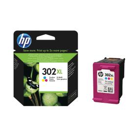 HP- 302XL- Tri-Colour- High- Capacity- Ink- Cartridge- (Original) - Cashback- Available