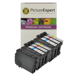 compatible epson 18xl black and colour high capacity ink cartridge 9 pack