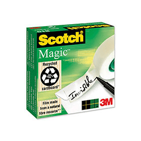 scotch magic tape on dispenser
