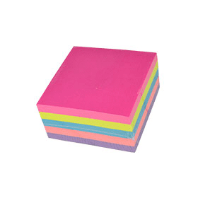 Sticky- Notes- Neon- Rainbow- Cube- Pad (75mm x 75mm)