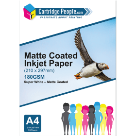 180g- A4- Matte- Coated- Inkjet- Paper- x20- (Own Brand)