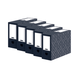 Bankers- Box- Decor- 100mm- Transfer- File- Grey- (Pack of 5)