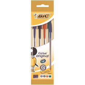 BIC- Cristal- Ballpoint- Pen - Assorted -Colours (4 Pack)
