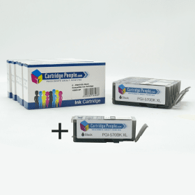 Compatible- Canon- PGI-570PGBKXL, CLI-571XL- BK/C/M/Y- Black- & -Colour- High- Capacity- Ink- Cartridge- 6- Pack- (Own- Brand)