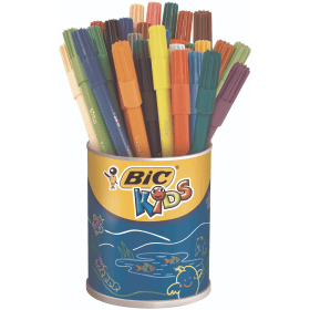 BIC- KiDS- Visa- Ultra- Fine- Felt- Tip- Pens - Assorted- Colours- (36 Pack)