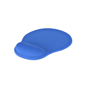 Mousepad- with- Gel- Wrist- Support – Bright- Blue