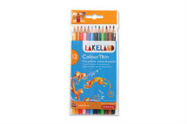 Lakeland- Colourthin- Colouring- Pencils- Assorted- Colours- (12 Pack)