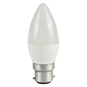 B22- Bayonet- LED- 5.5W- Candle- Bulb- (40W Equivalent) 470- Lumen - Warm- White- Frosted