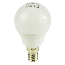 E14- Small- Screw- LED- 4W- Golf- Ball- Bulb- (25W Equivalent) 275- Lumen - Warm- White- Frosted
