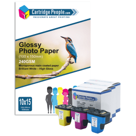 Compatible- HP- 363- Ink- Cartridge- 3- Pack- C/M/Y- with- Photopaper (Own Brand)