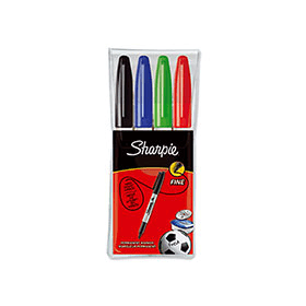 Sharpie- 4- Pack- Assorted- Fine- Marker- Pens