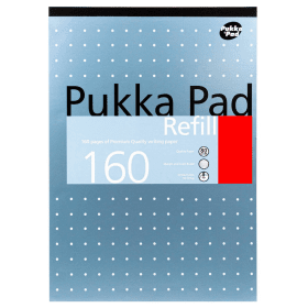 Pukka- Pad- A4- Headbound- Refill- Pad- Ruled- 160- Pages - Metallic (6 Pack)