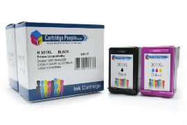 Compatible- HP- 301XL- Black- &- Colour- Ink- Cartridge- Pack- (Own Brand)