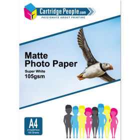 Cartridge- People- A4- Matte- Photo- Paper- 105gsm- 100- sheets