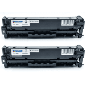 Compatible- Canon- 718BK- Black- Toner- Cartridge- Twin- pack- (Own Brand)