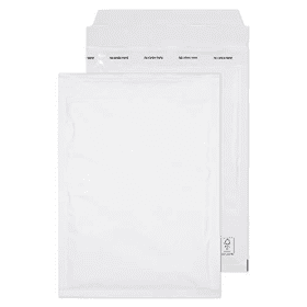 Purely- Everyday- C5- 260 x 180mm- Peel- &- Seal- Padded- Bubble- Pockets - White (100 Pack)