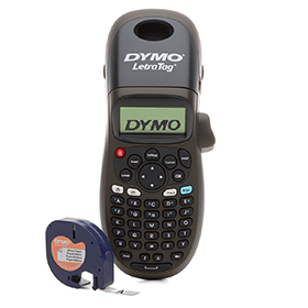 Dymo- LetraTag- LT-100H- Handheld- Thermal- Label- Printer- Limited- Edition- Black- Version