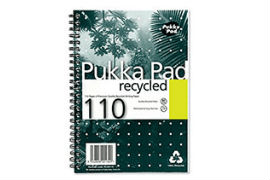 Pukka- Pad- A5- 80gsm- Wirebound- Recycled- Ruled- &- Perforated- Notebook- (110 Pages)