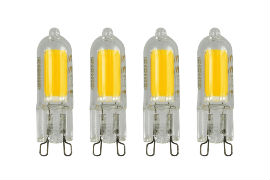 4 Pack of G9 LED 2W Capsule Bulb (20W Equivalent) 200 Lumen - Warm White