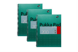 Pukka- Pad- A4- Wirebound- Notebook- (200 Pages) (3 Pack)