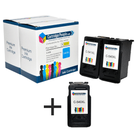 Compatible- Canon- PG-540XL /CL-541XL- Black & Colour- High- Capacity- Ink- Cartridge- 3 -Pack (Own Brand)