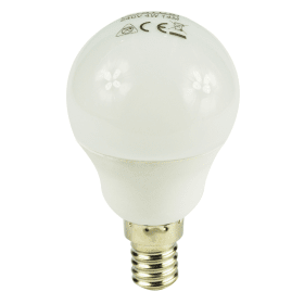 E14- Small- Screw- LED- 4W- Golf- Ball- Bulb- (25W -Equivalent) 275- Lumen - Warm- White- Frosted