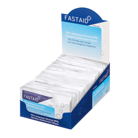 FastAid 70% Isopropyl- Alcohol- (IPA)- Surface- Disinfectant- Wipes- (50 Box)
