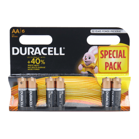 Duracell- AA -Batteries - 6- Pack