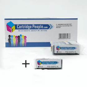 Compatible Canon PGI-550PGBKXL, CLI-551XL BK/C/M/Y Black- &- Colour- High- Capacity- Ink- Cartridge- 6- Pack- (Own Brand)