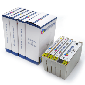 Compatible- Epson- 35XL- Black- &- Colour- High- Capacity- Ink- Cartridge- 4- Pack (Own Brand)