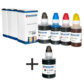 Cartridge- People- Compatible- Canon- GI-590- Black- &- Colour- Ink- Bottle- 5 -Pack- (Own- Brand)