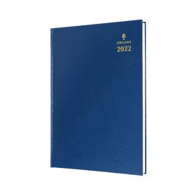 Collins- A5- Day- Per- Page- 2022- Desk- Diary - Blue