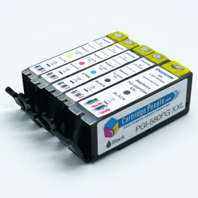 Compatible- Canon- PGI-580/CLI-581 XXL (PGBK/BK/C/M/Y) Black- and- Colour- Extra- High -Capacity- Ink- Cartridge- 5- Pack (Own Brand)