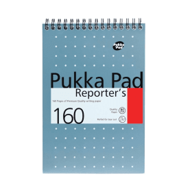 Pukka- Pad- Reporters- Shorthand- Notebook- Ruled -160- Pages- (3 Pack)