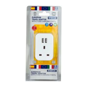 Status- European- Travel- Adaptor- with- 2- USB- Ports