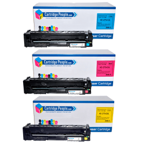 Cartridge -People- HP- 203A- Compatible- Colour- Toner- Cartridge- 3- Pack (Own Brand)- CF541A / CF543A / CF542A