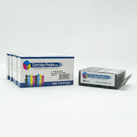 Compatible- Canon- PGI-570PGBKXL, CLI-571XL- BK/C/M/Y Black- & -Colour- High- Capacity- Ink- Cartridge -5- Pack- (Own Brand)