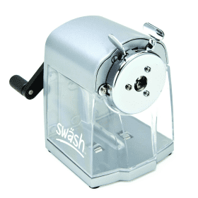 Swash- Metal- Desktop- Pencil- Sharpener