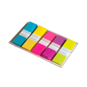 Post-it- Index- Small- Bright- Colours- in- Portable- Pack- (12.5mm x 43mm) (100 Pack)