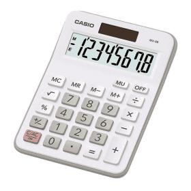 Casio- MX-8B-WE- Desk- Calculator - White