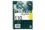 Pukka- Pad- A5- 80gsm- Wirebound- Recycled- Notebook- Ruled- and- Perforated- 110- Pages (3 Pack)