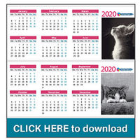 Free - Printable- 2020- Desk- Calendars